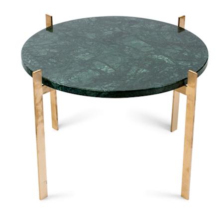 Single deck sofabord – Green/brass