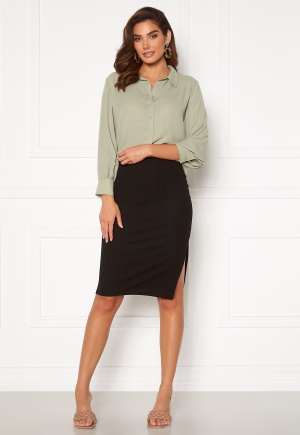 ONLY Nella Slit Skirt Black XS