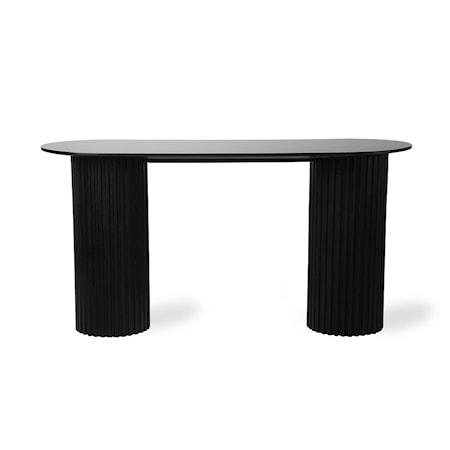 Pillar Sidobord Oval Black