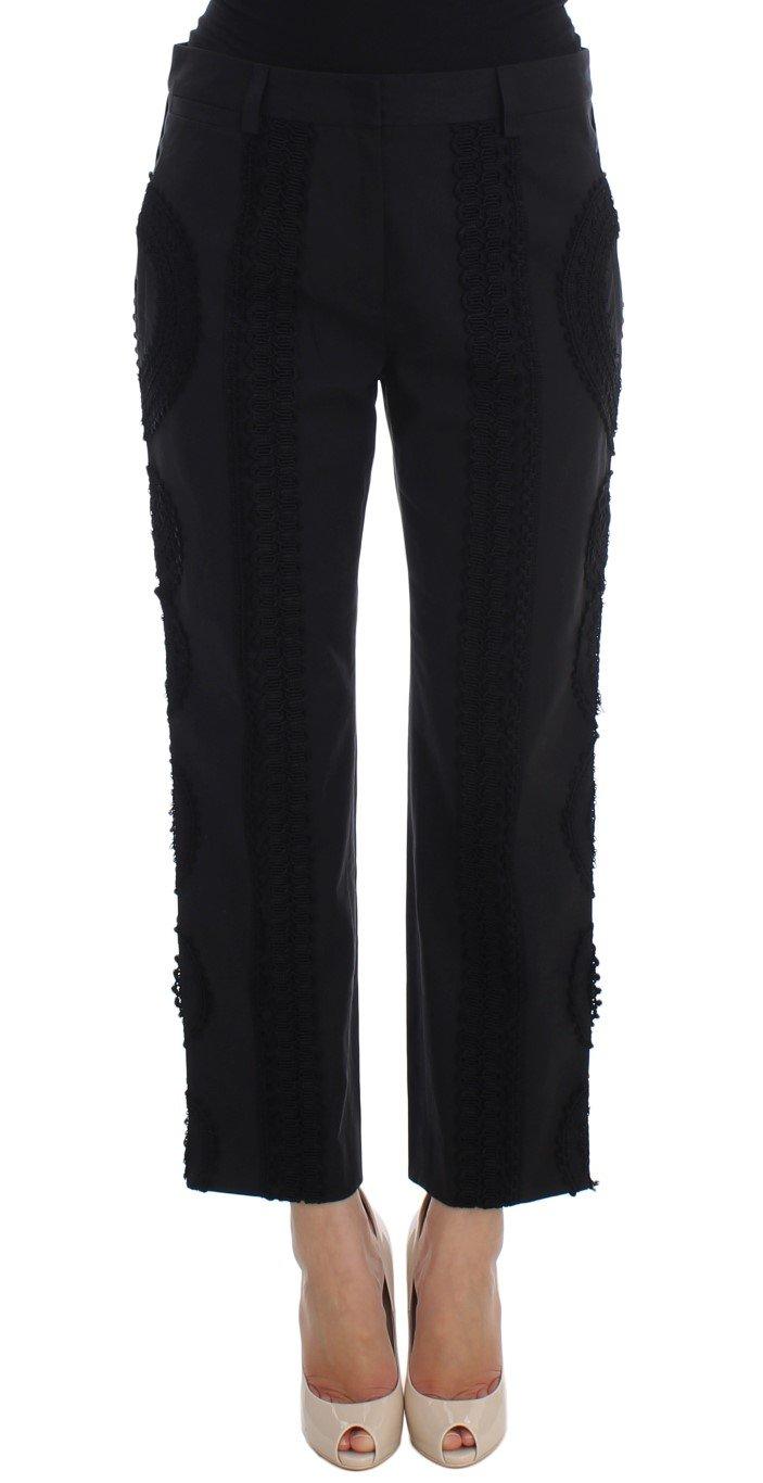 Dolce & Gabbana Women's Cotton Stretch Torero Capris Black SIG20002-4 - IT36 | XS