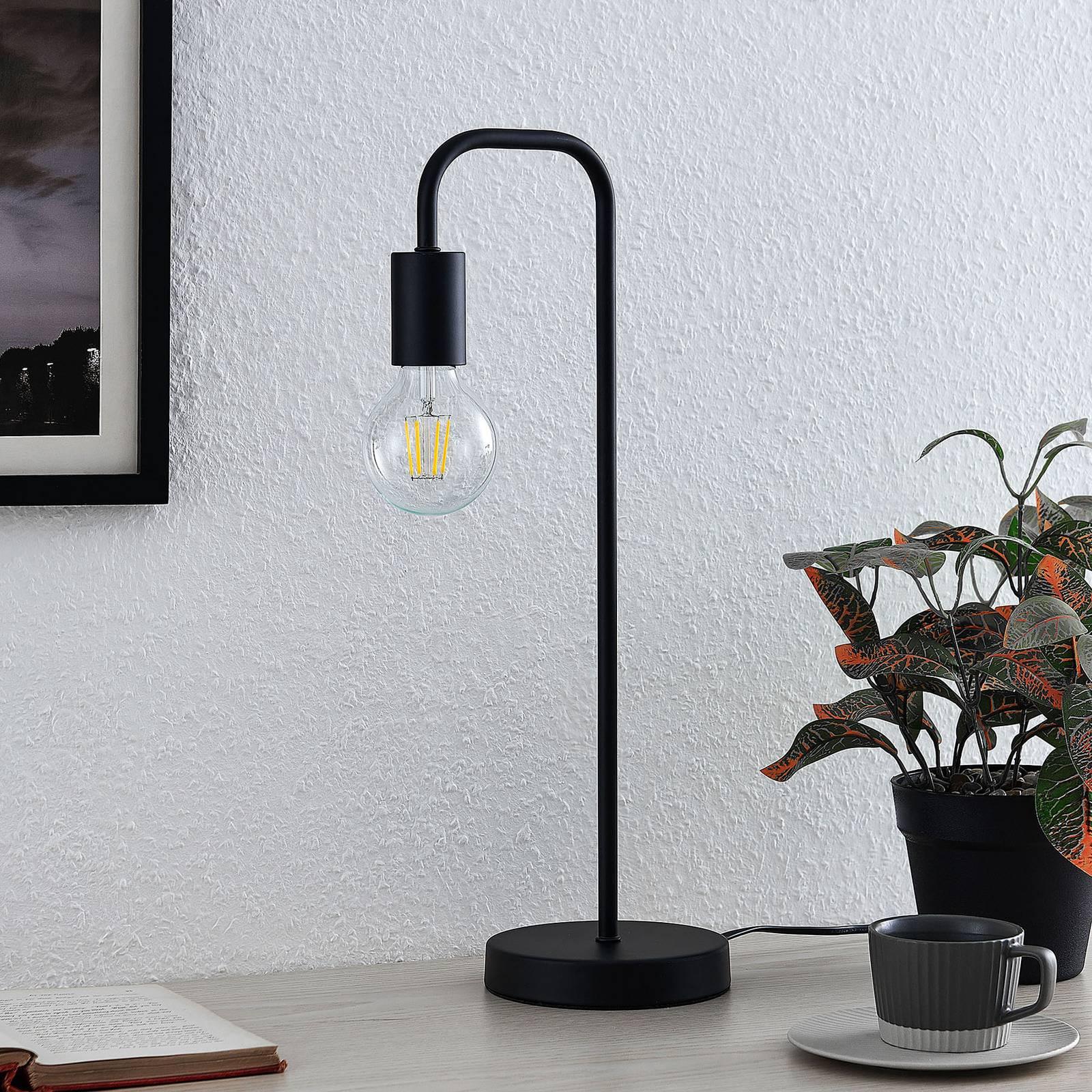 Lindby Erivana -pöytälamppu, musta