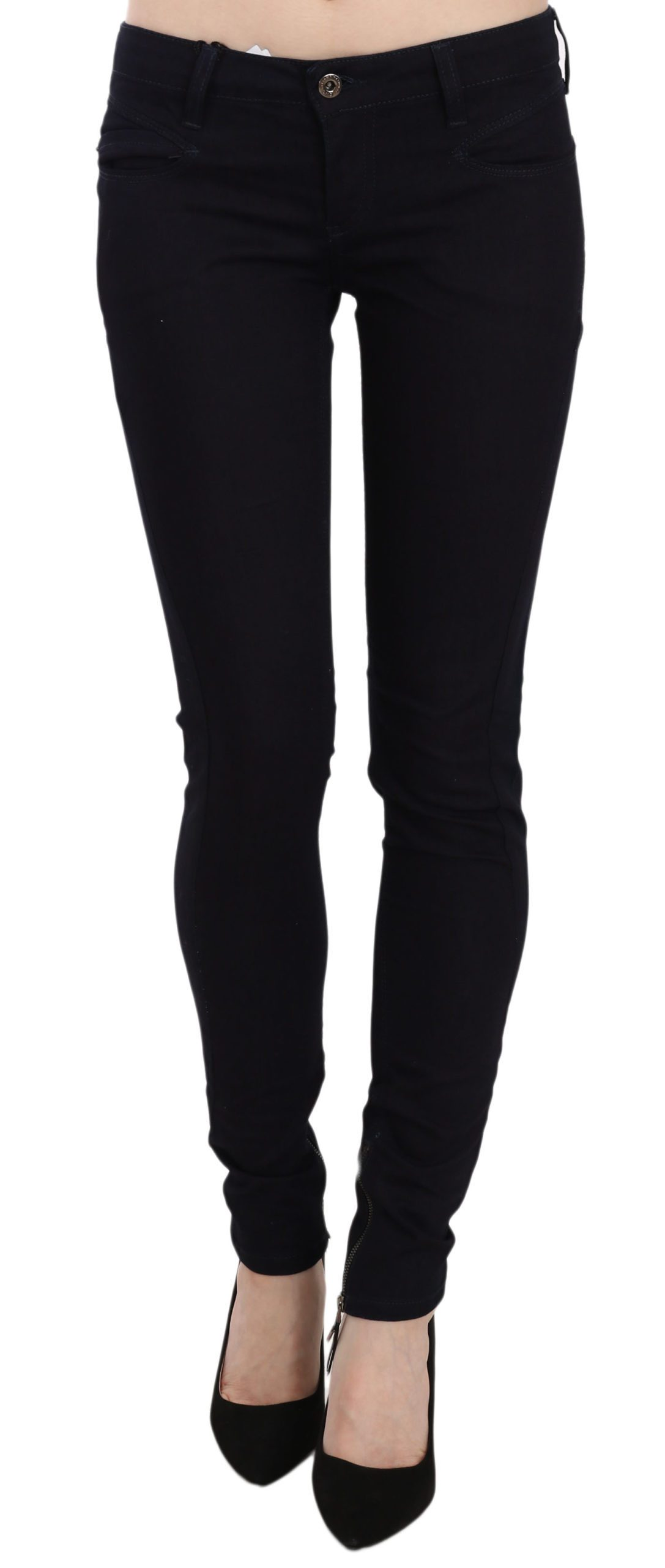 Costume National Women's Skinny Leg Denim Slim Fit Jeans Blue PAN61220 - W27