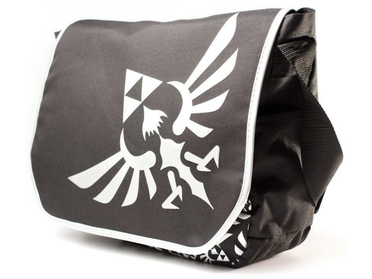 """Zelda - Messenger Bag Silver Logo 15"""" laptop"""