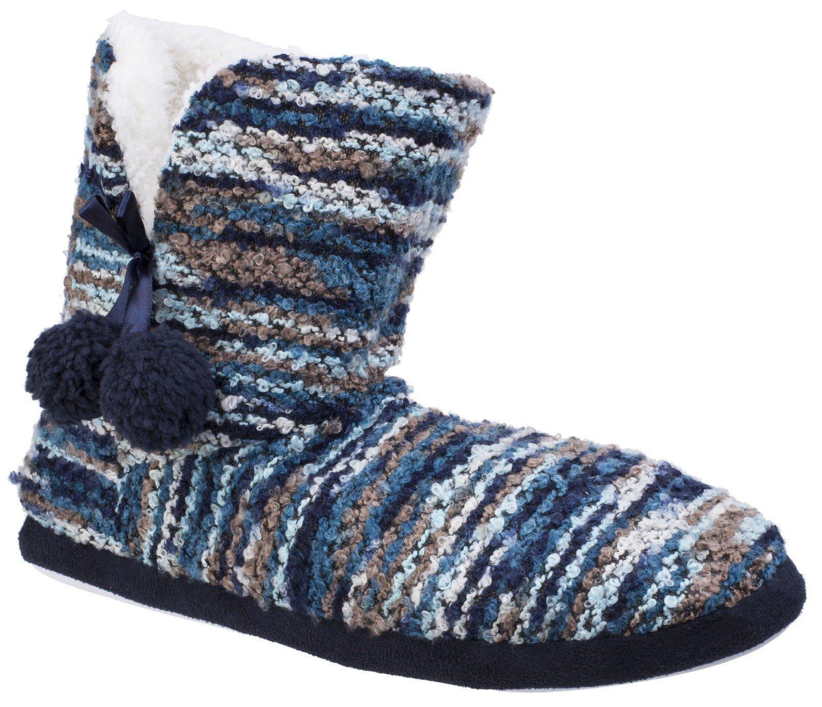 Divaz Women's Vienna Knitted Bootie Slipper Multicolor 25585-42604 - Blue 4