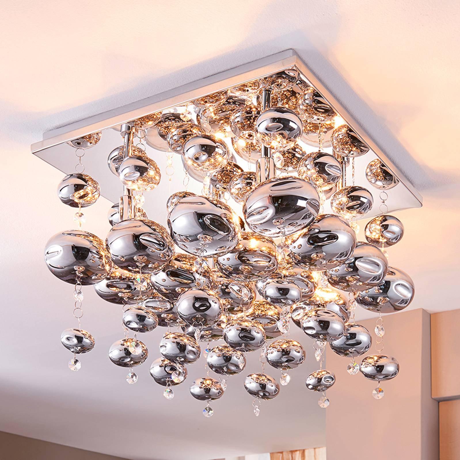 Taklampe Esfera utrustet med glasskuler