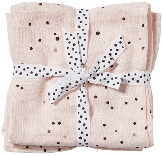Done By Deer Teppe Dreamy Dots 120x120 2-pack, Powder