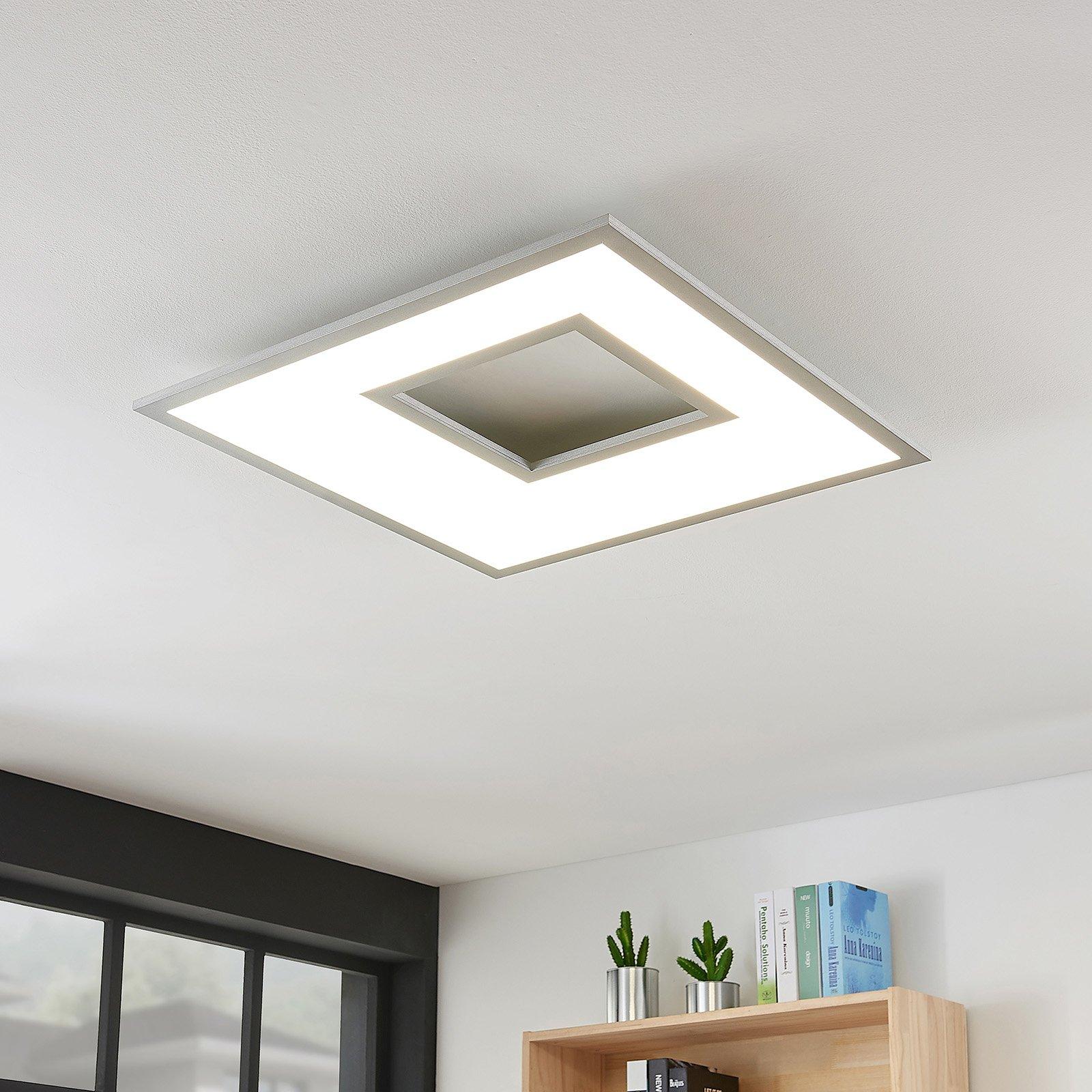 LED-taklampe Durun, dimbar, CCT, kantet, 60 cm