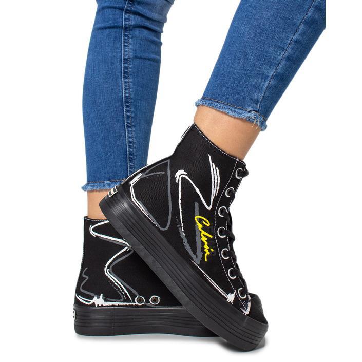 Calvin Klein Jeans Women's Trainer Black170929 - black 35