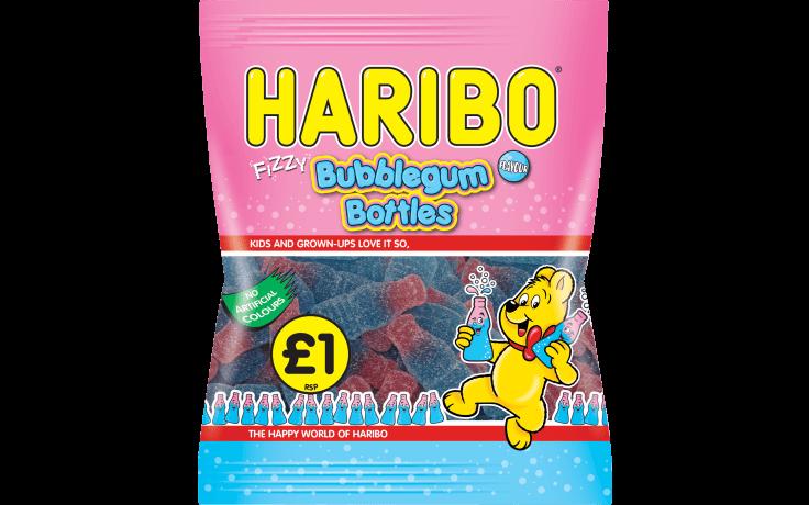 Haribo Bubblegum Bottle Zing 160g