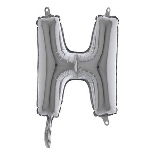 Bokstavsballong Mini Silver - Bokstav H