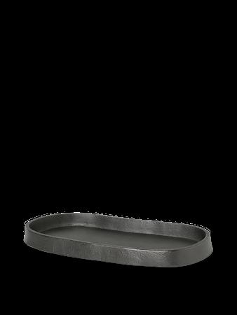 Yama Tray Fat Oval Blackened Aluminium