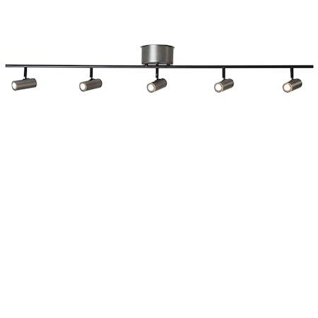 Cato Skinne Oksidert grå 5-spot LED Dimbar