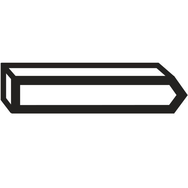Bosch 2609200292 Stift Type 41, 14 mm, 1000-pakning