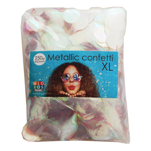 Konfetti Stora Färgskimrande Metallic - 250 gram