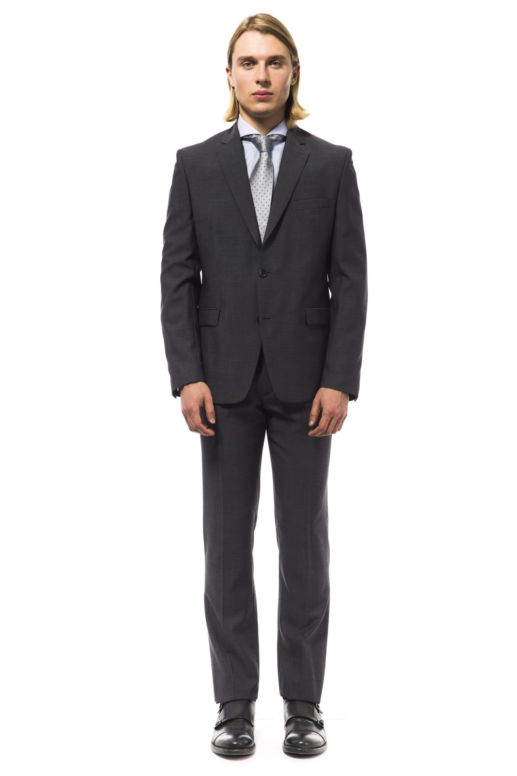Uominitaliani Men's Suit Gray UO994946 - IT50 | L