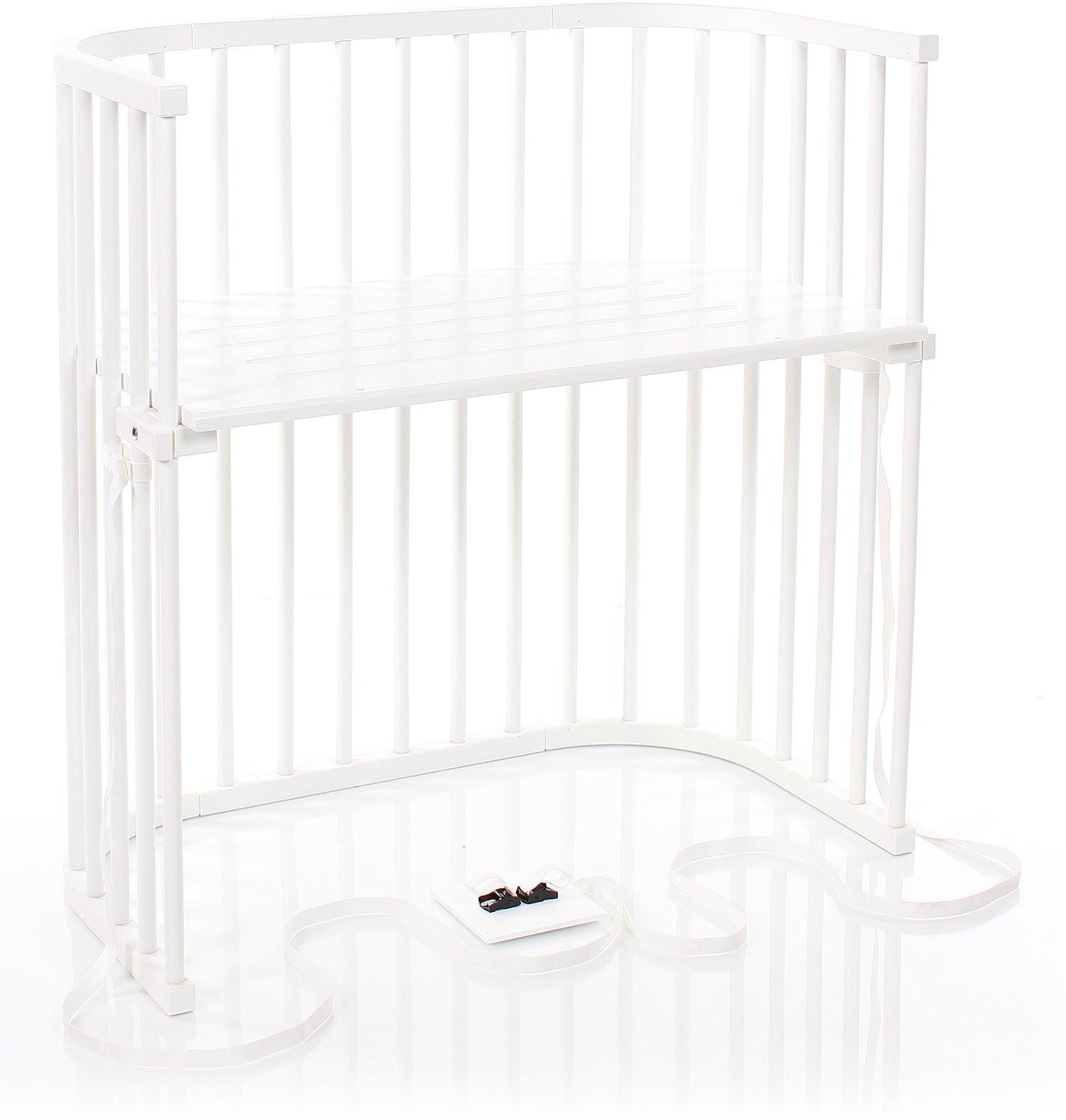 Babybay Bedside Crib Boxspring, White