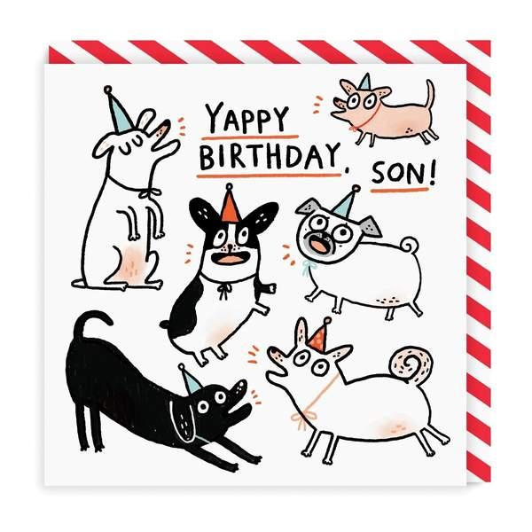 Son Yappy Birthday Square Greeting Card