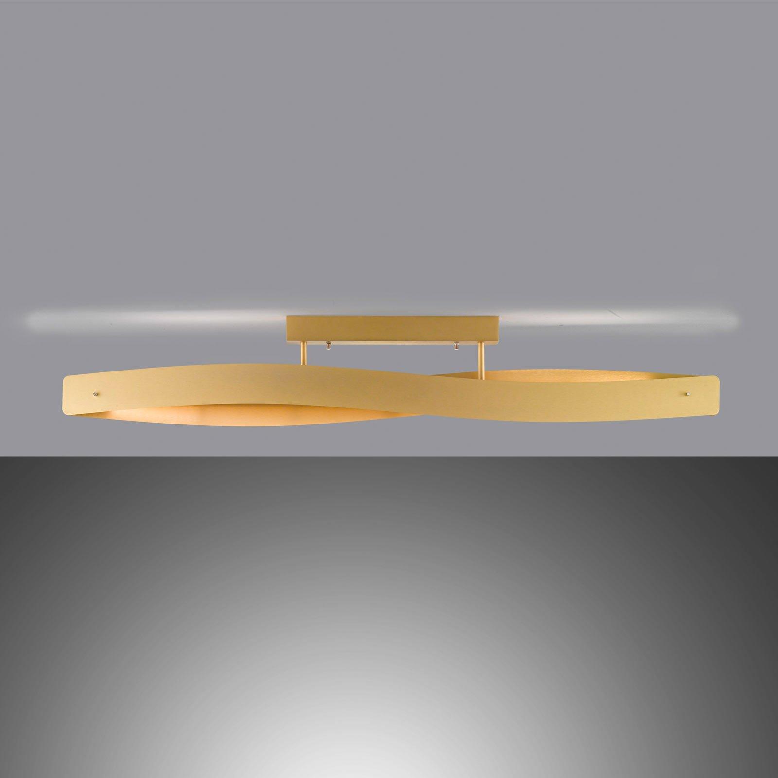 Lucande Lian LED-taklampe, matt messing