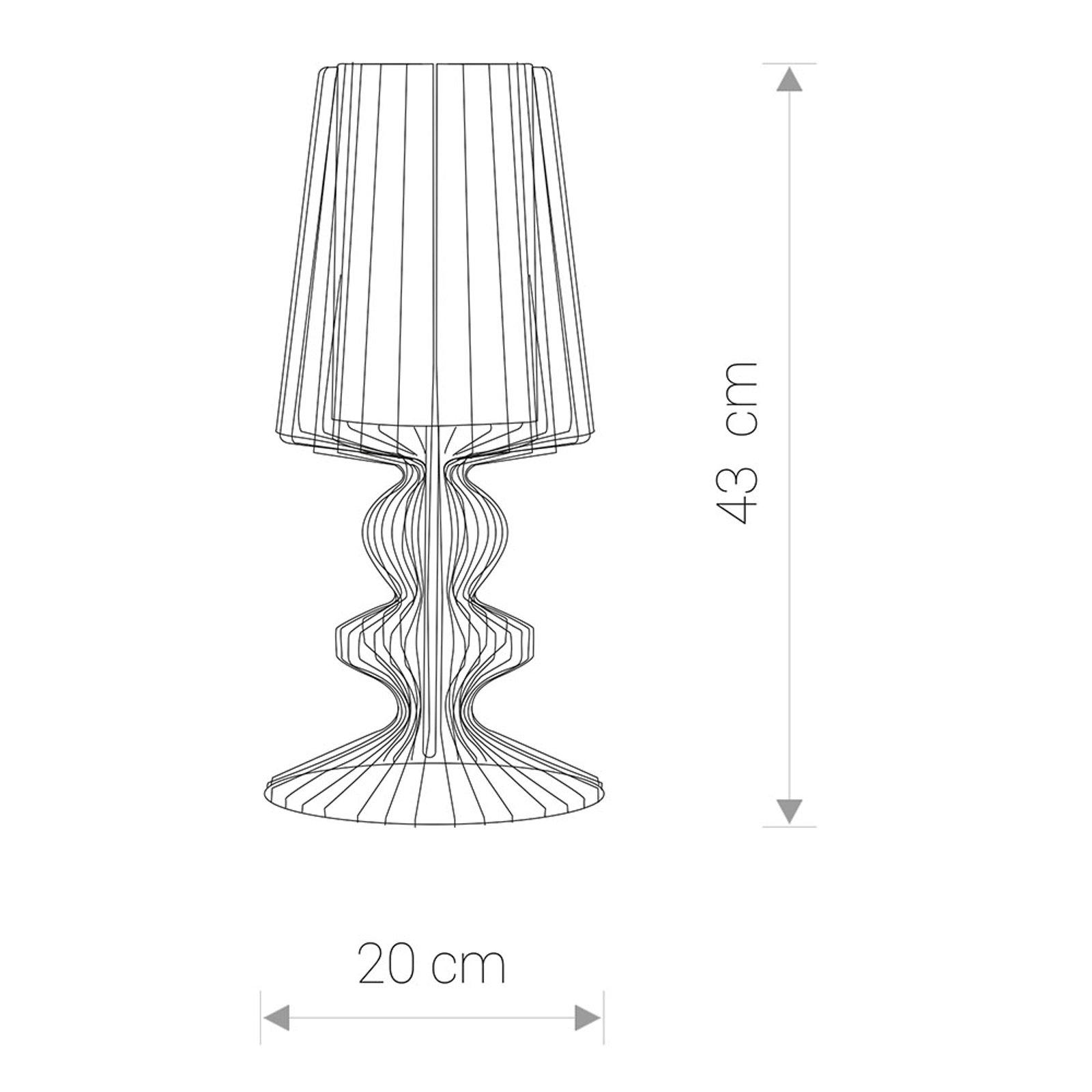 Bordlampe Aveiro S med metallstenger, hvit