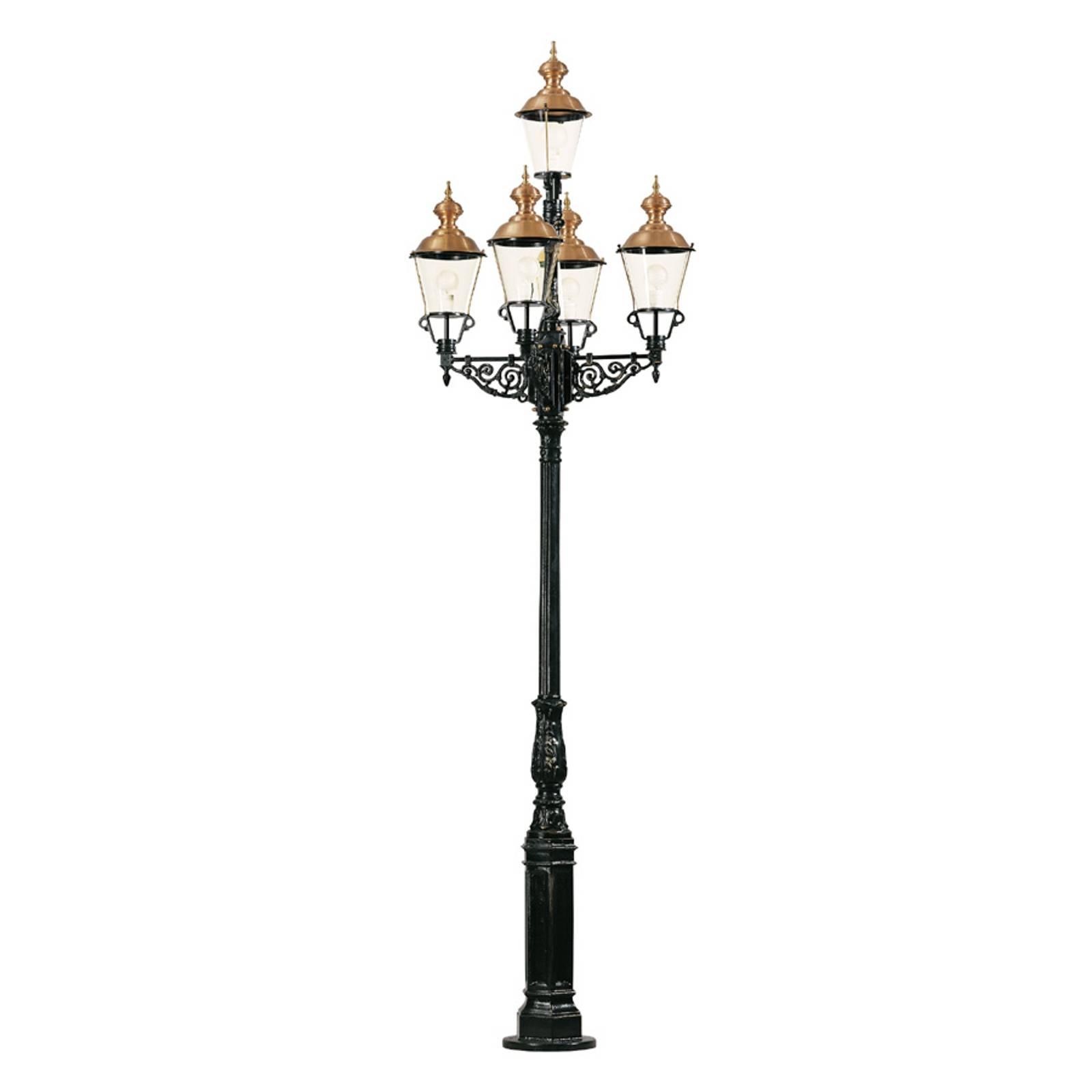 Edustava kynttilänjalka Monaco, viisilamppuinen