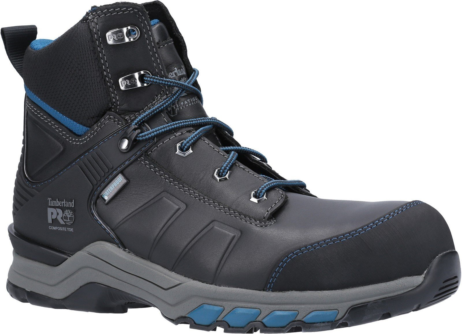 Timberland Pro Men's Hypercharge Safety Toe Work Boot Various Colours 30948 - Black/Teal 6