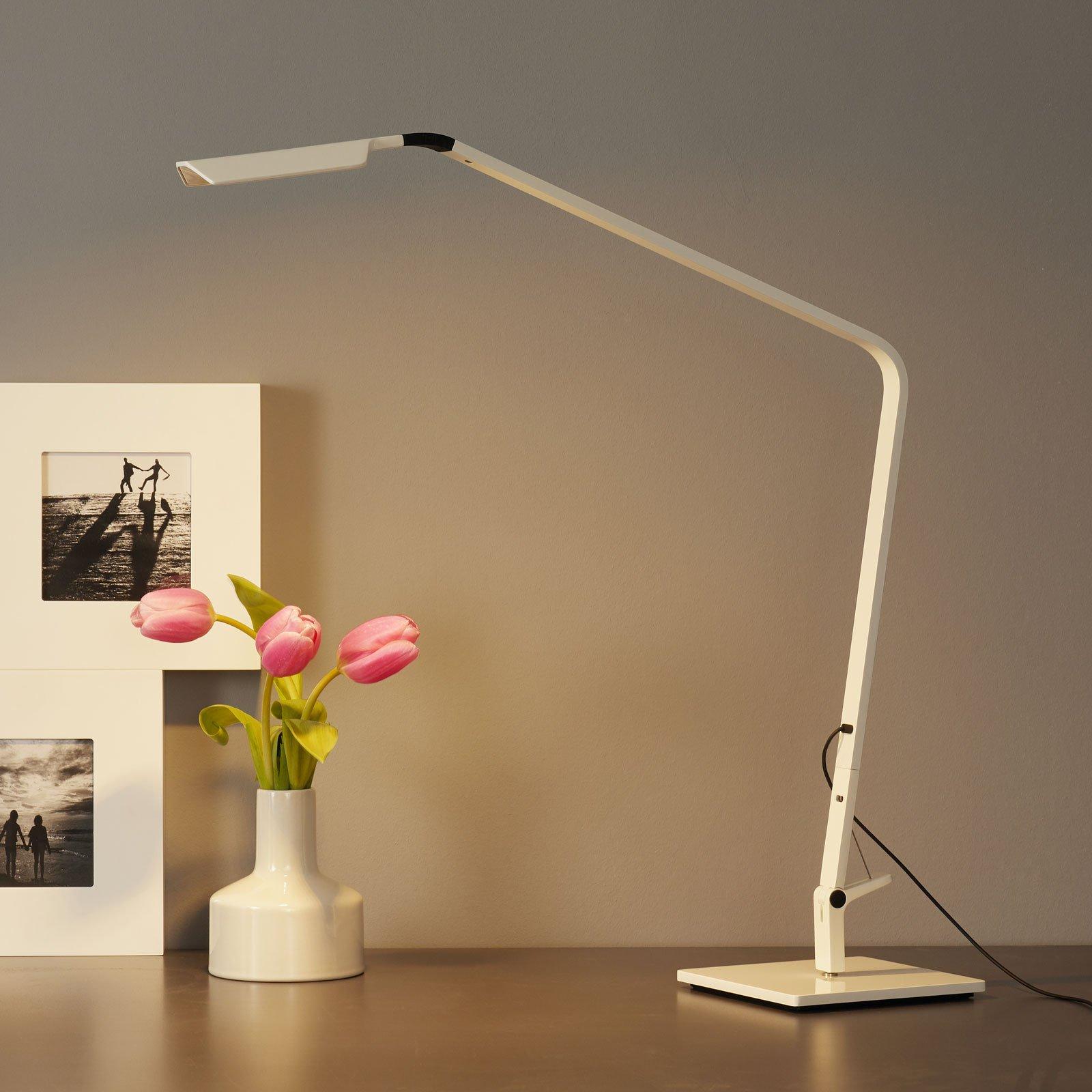 Flex skinnende hvit LED bordlampe