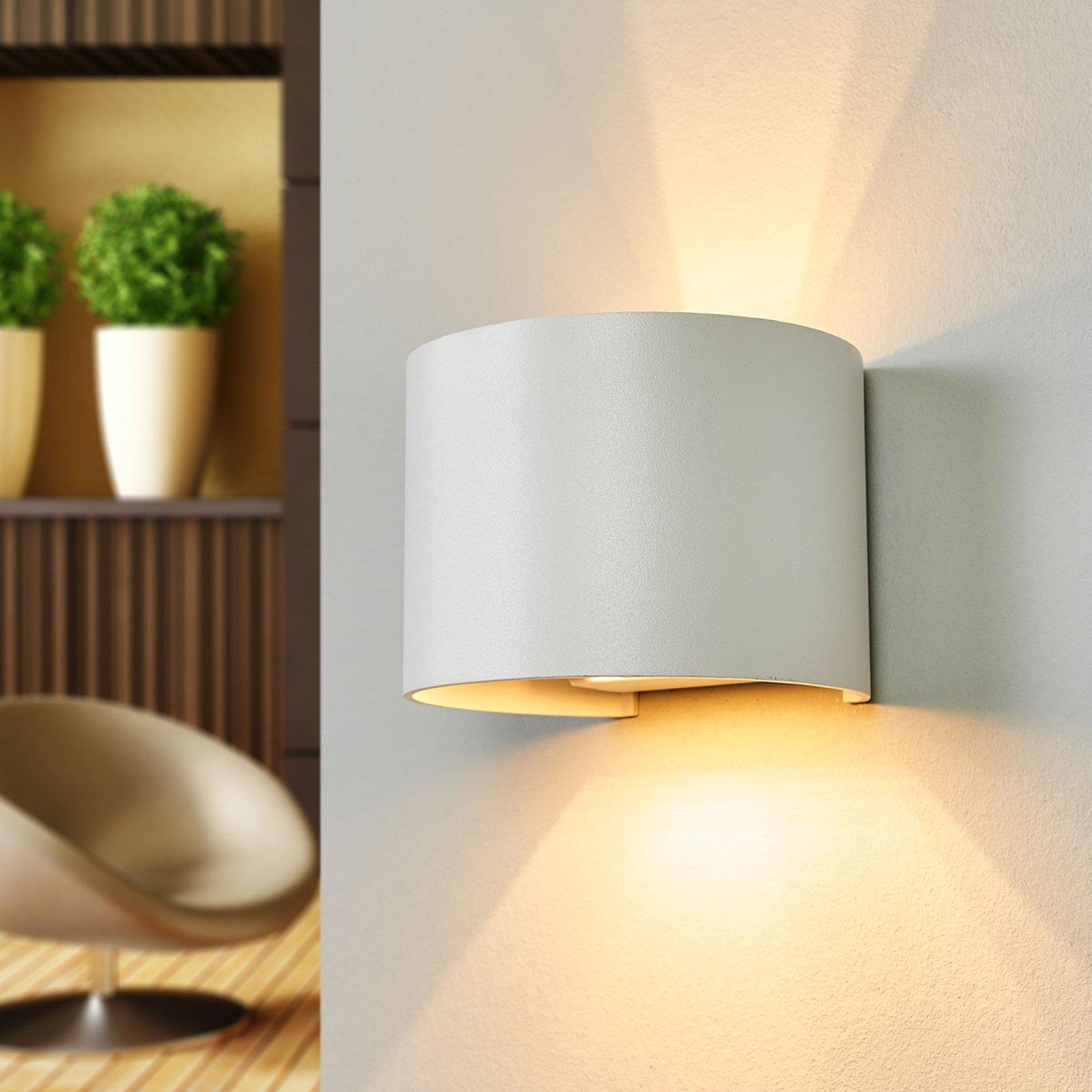 LED-vegglampe Xio, bredde 13 cm, hvit