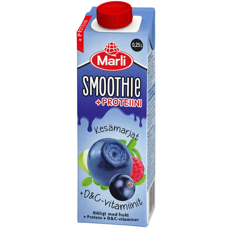 Smoothie kesämarjat + D&C -vitamiinit ja proteiini - 18% alennus