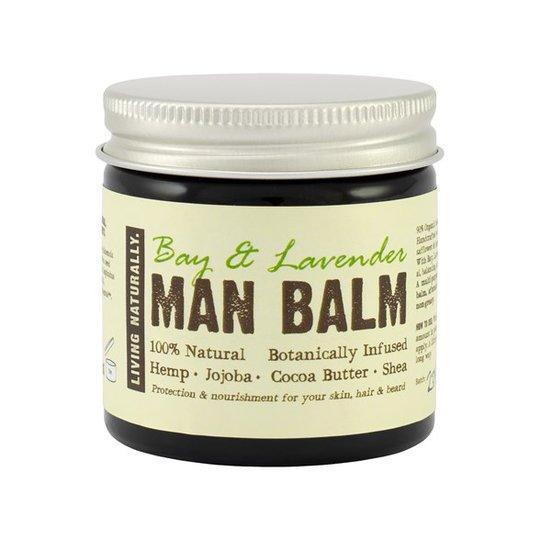 Living Naturally Bay & Lavender Man Balm, 60 g