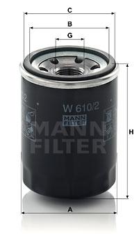 Öljynsuodatin MANN-FILTER W 610/2
