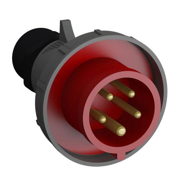 ABB 2CMA102335R1000 Støpsel hurtigtilkoblet, vibrasjonsbestandig Rød, 16 A, 5-polet