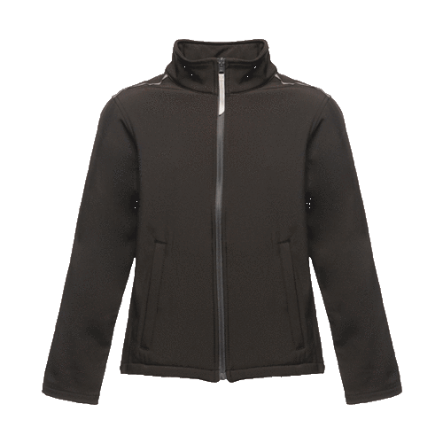 Regatta Kid's Classmate Softshell Jacket Various Colours T_TRA683 - Black / Seal Grey 5/6 Years