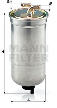Polttoainesuodatin MANN-FILTER WK 853/16