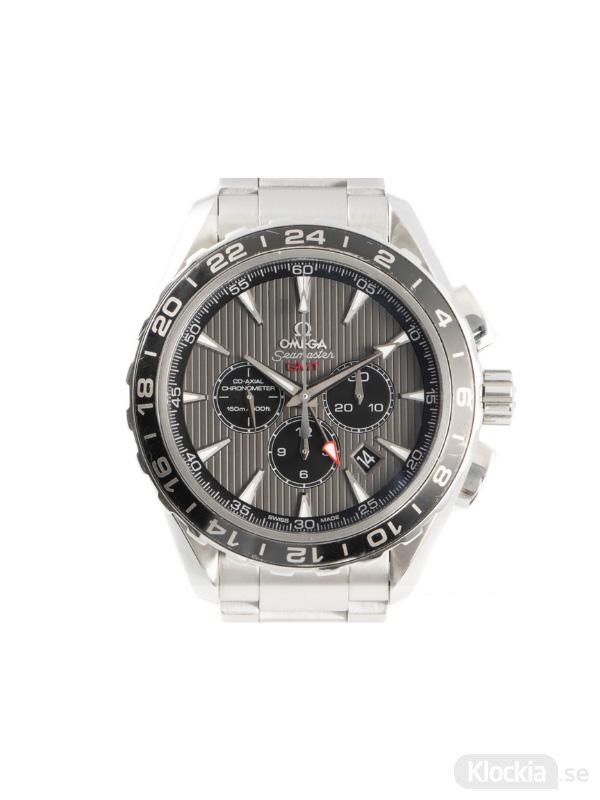 Begagnad Omega Seamaster Aqua-Terra GMT Co-Axial Chronometer Chronograph 231.13.44.52.06.