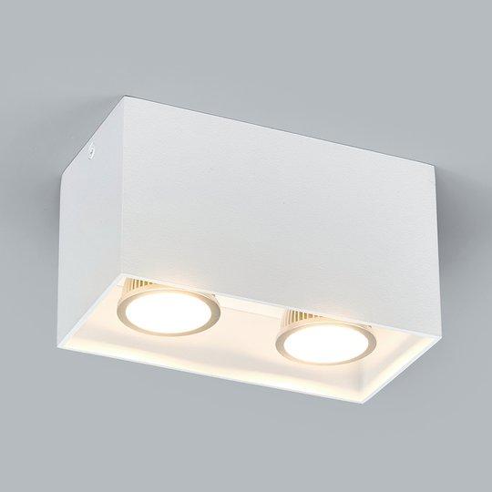 2-lamp. Pinta-asennettava downlight Carson, valk.