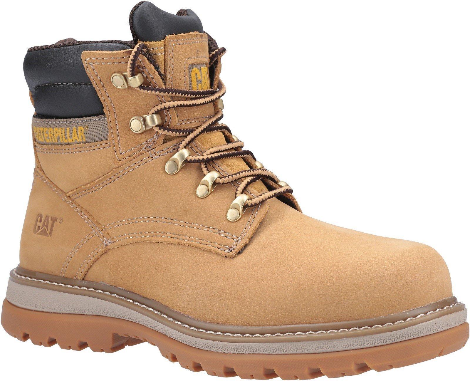 Caterpillar Men's Fairbanks Lace Up Safety Boot Honey 29659 - Honey Reset 6