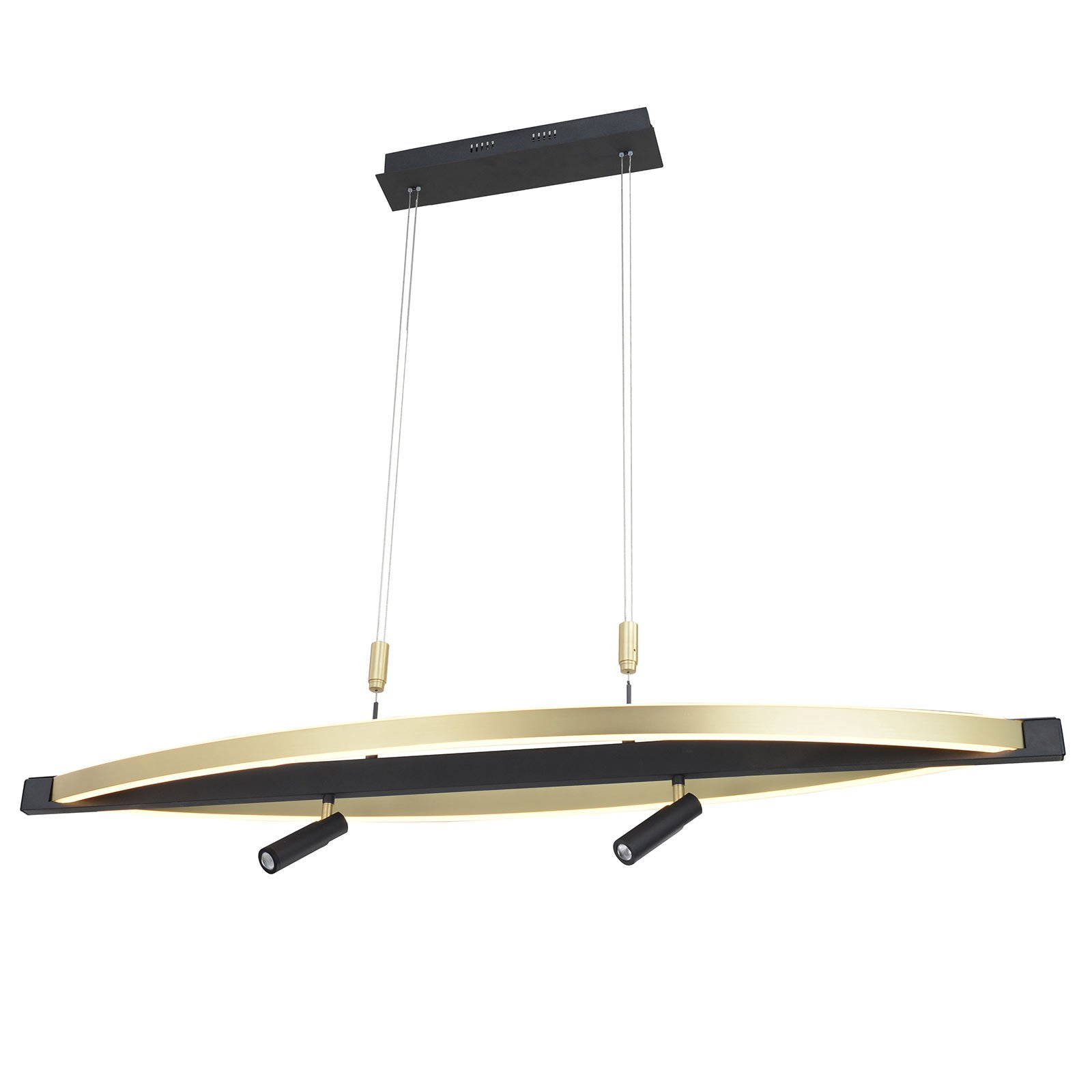 Lucande Matwei LED-pendellampe, oval, messing