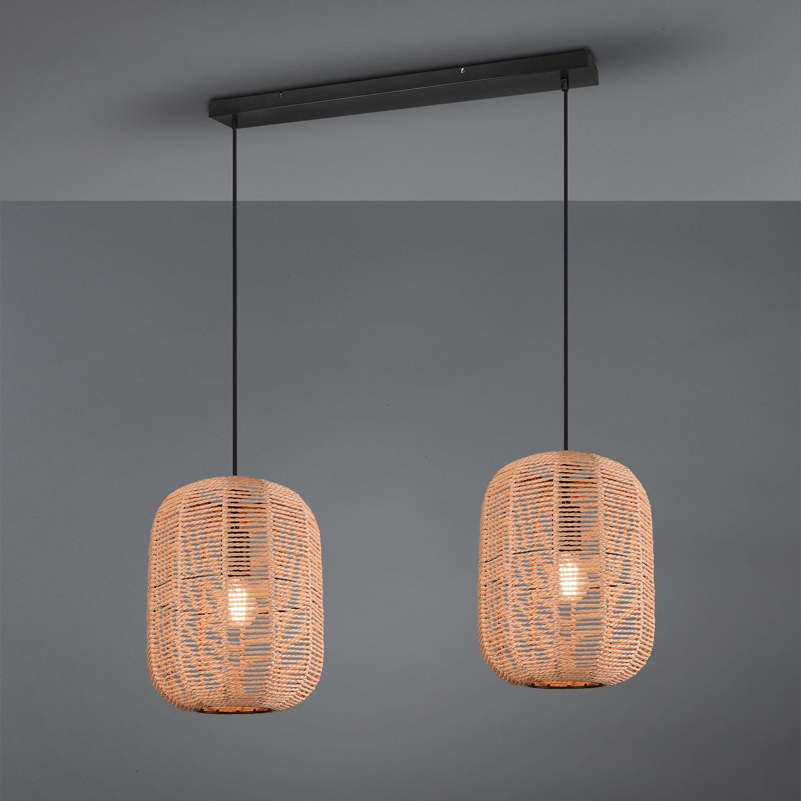 Riippuvalaisin Runa, sisalivarjostin, 2-lamppuinen