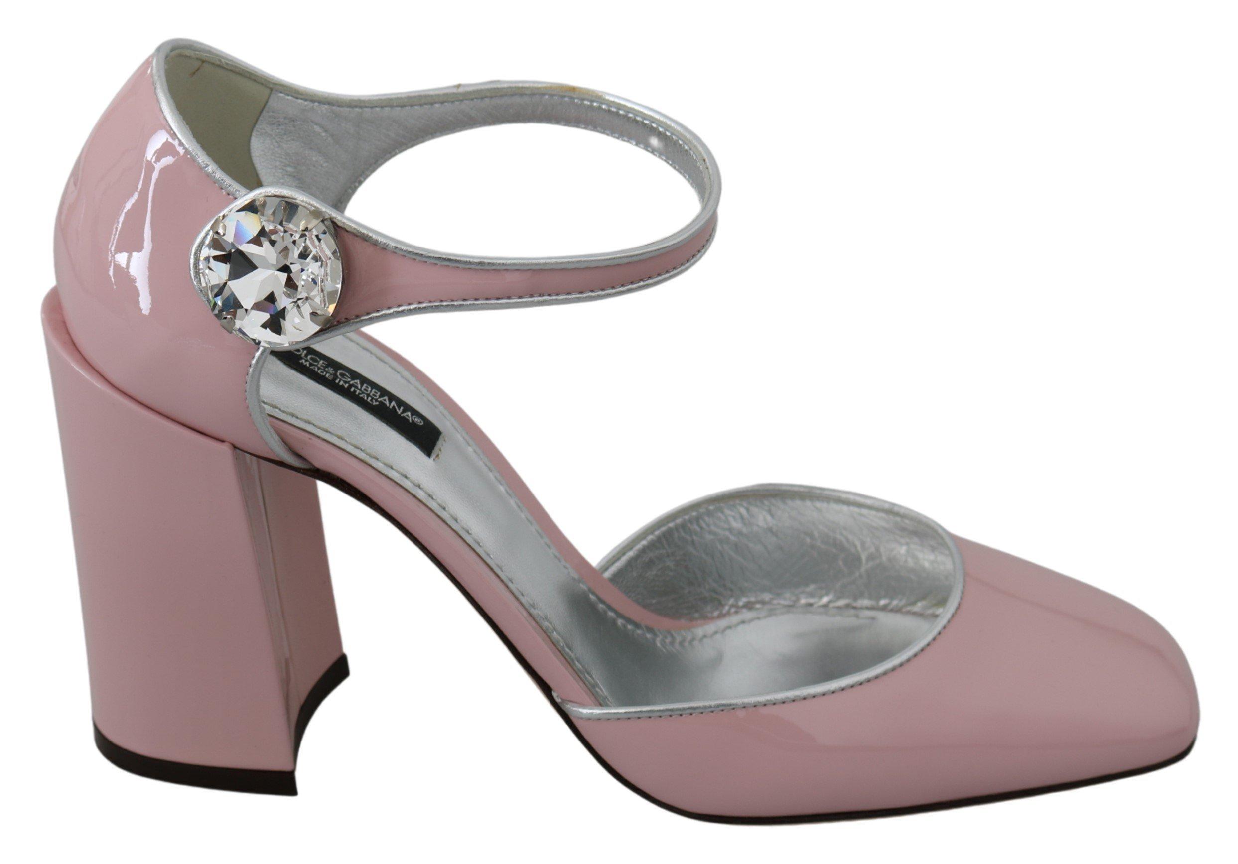 Dolce & Gabbana Women's Leather Crystal Sandal Pink LA7329 - EU39/US8.5