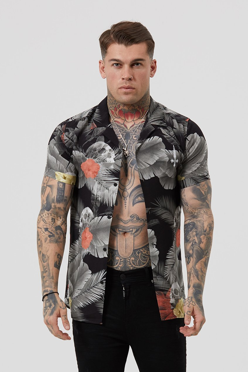 Res Tropical Resort Men's Shirt - Black, Small