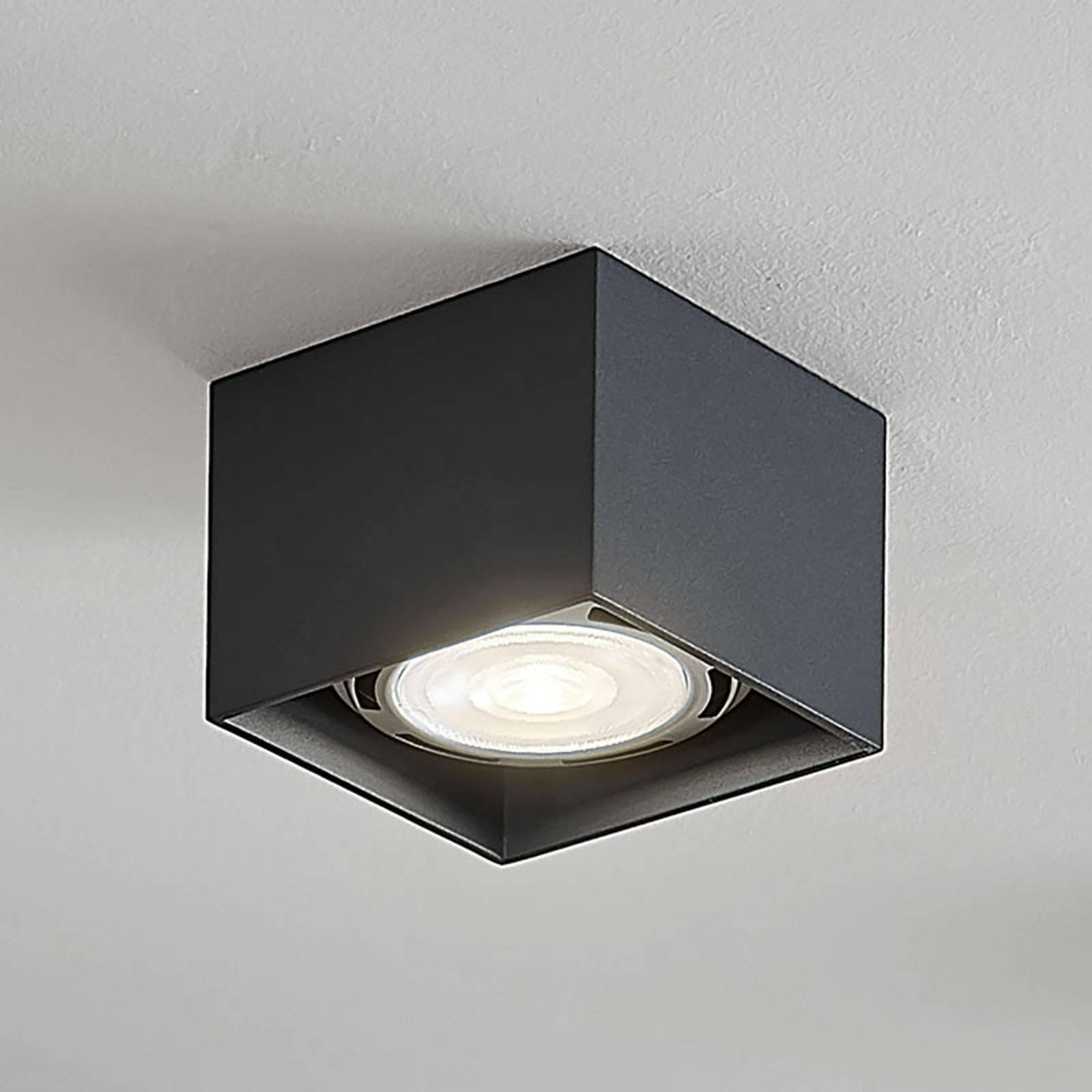 LED-kattospotti Mabel, kulmikas, harmaa