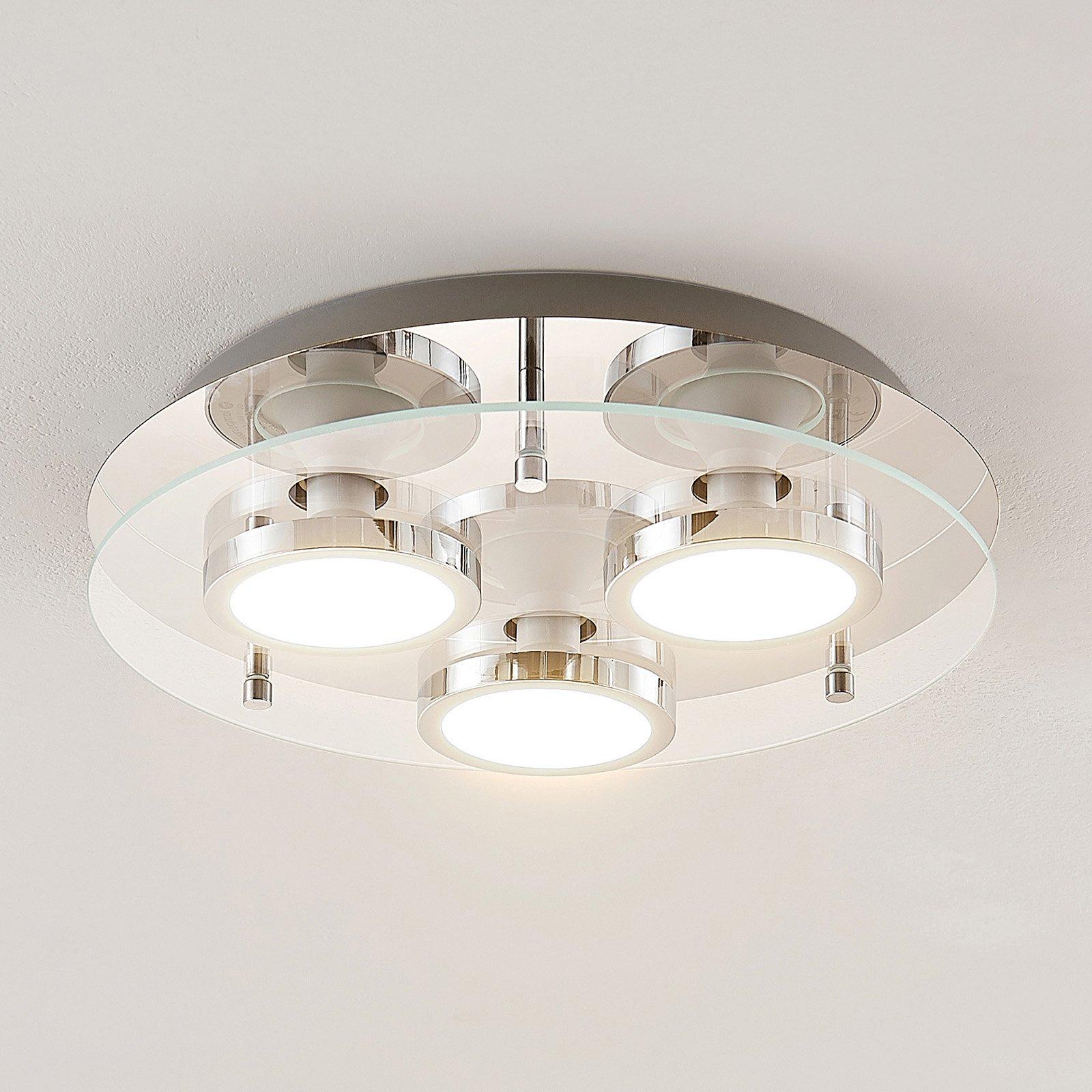 Lindby Gabryl LED-taklampe, tre lyskilder, rund