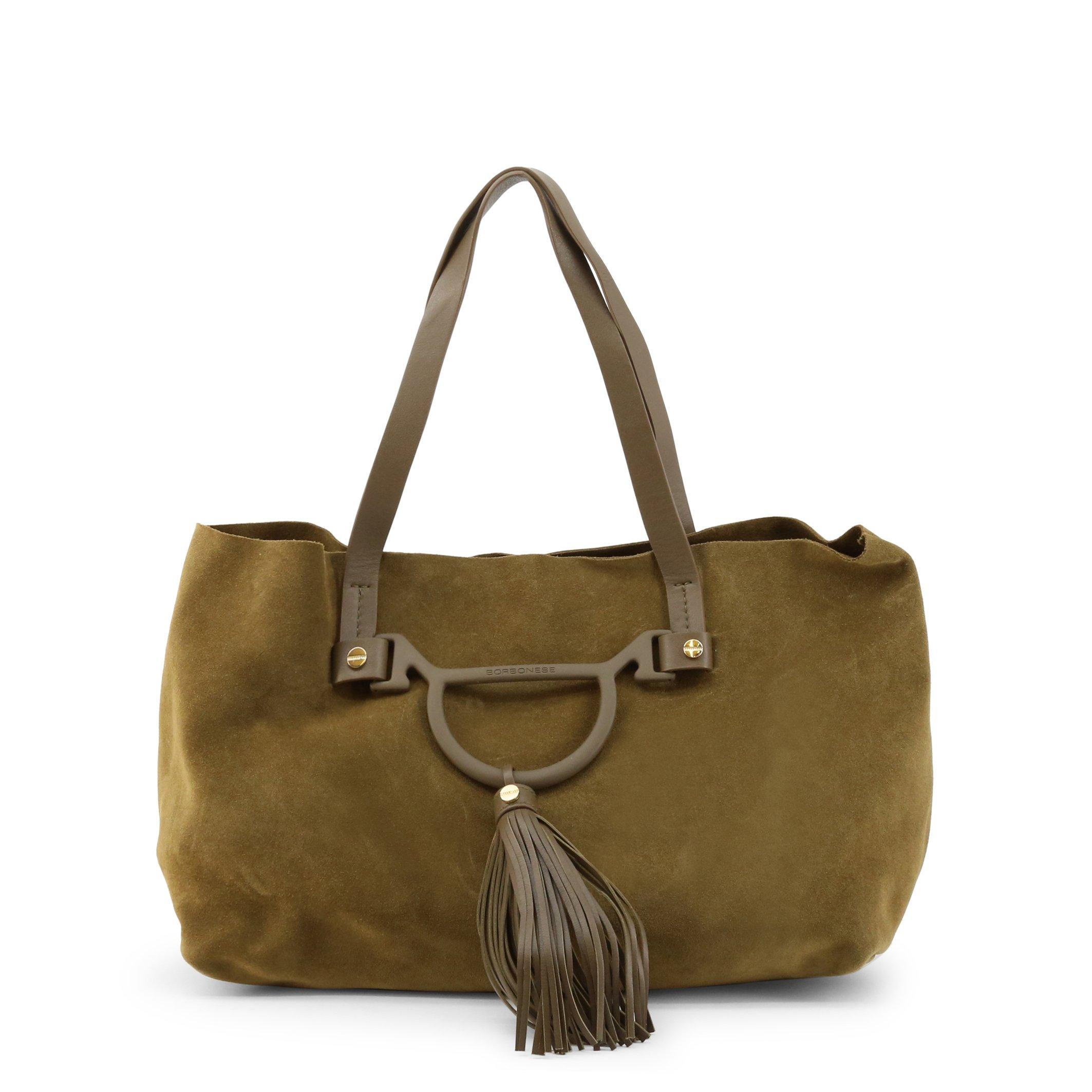 Borbonese Women's Shoulder Bag Various Colours 954753-J25 - green NOSIZE