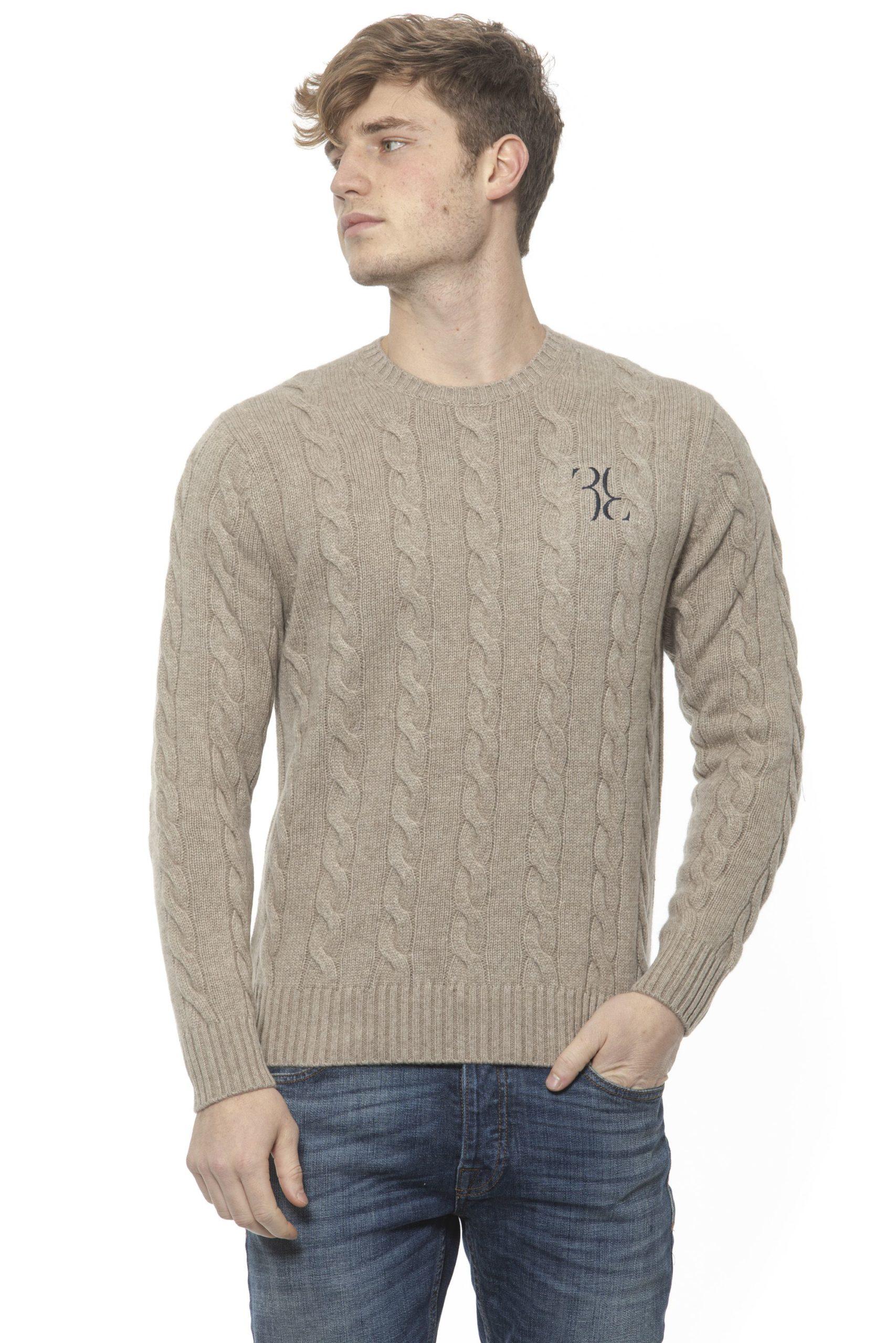 Billionaire Italian Couture Men's Tortora Taupe Sweater Beige BI1313442 - S