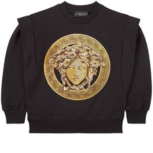 Versace Gold Medusa Sweatshirt Svart 6 år