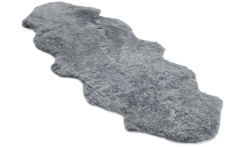 Dobbelt krøllete saueskinn - 30227 sølvgrå
