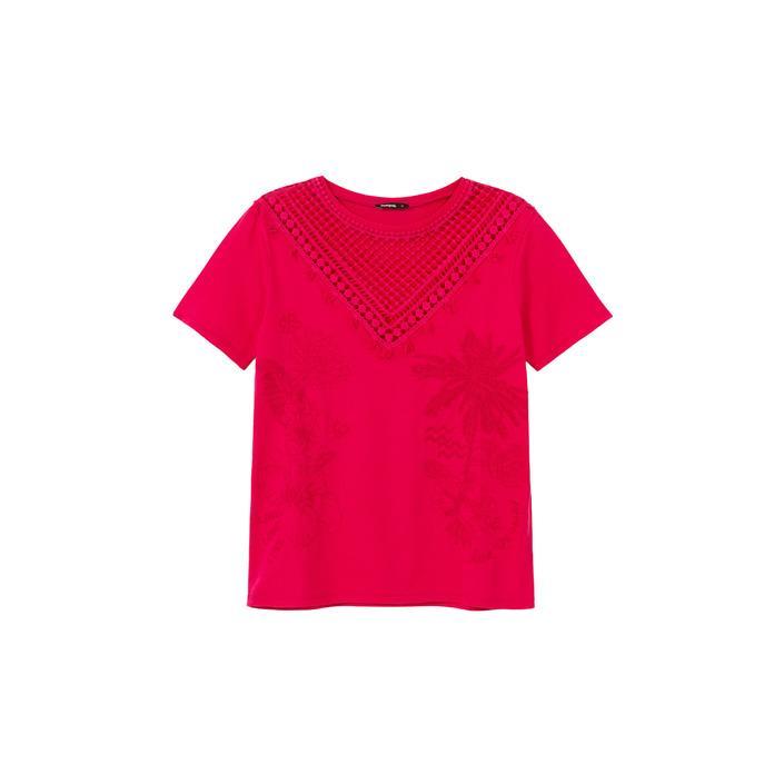 Desigual Women's T-Shirt Fuchsia 173295 - fuchsia XS
