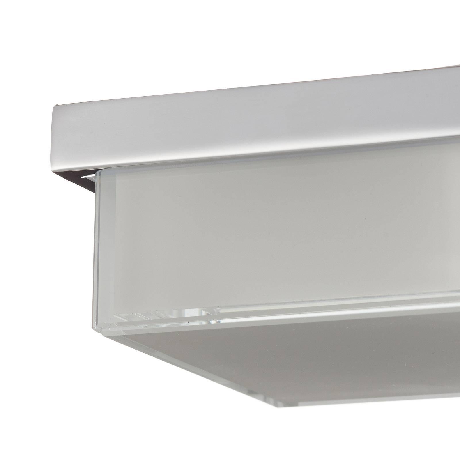 Helestra Cosi -LED-kattovalaisin, kromi 11x11 cm