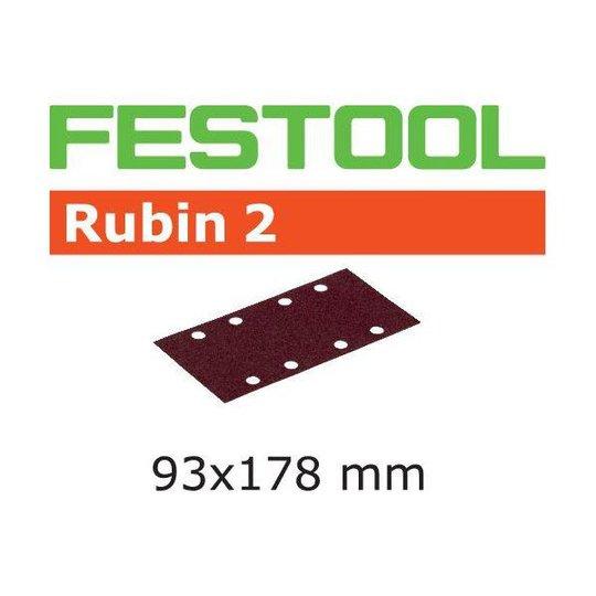 Festool STF RU2 Hiomapaperi 93X178mm, 8-reikäinen, 50 kpl P80