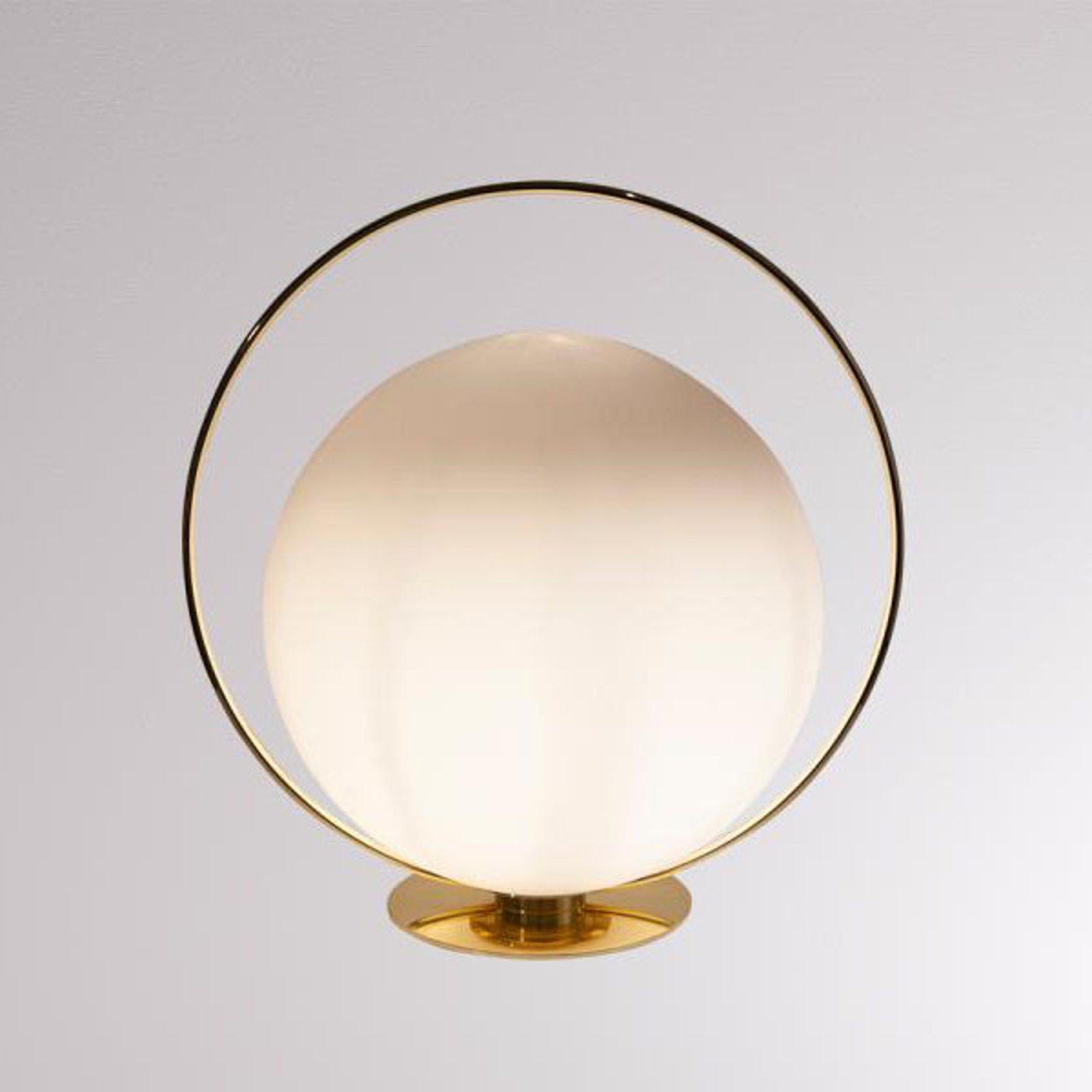 LOUM Tycho bordlampe med messigfarget ring